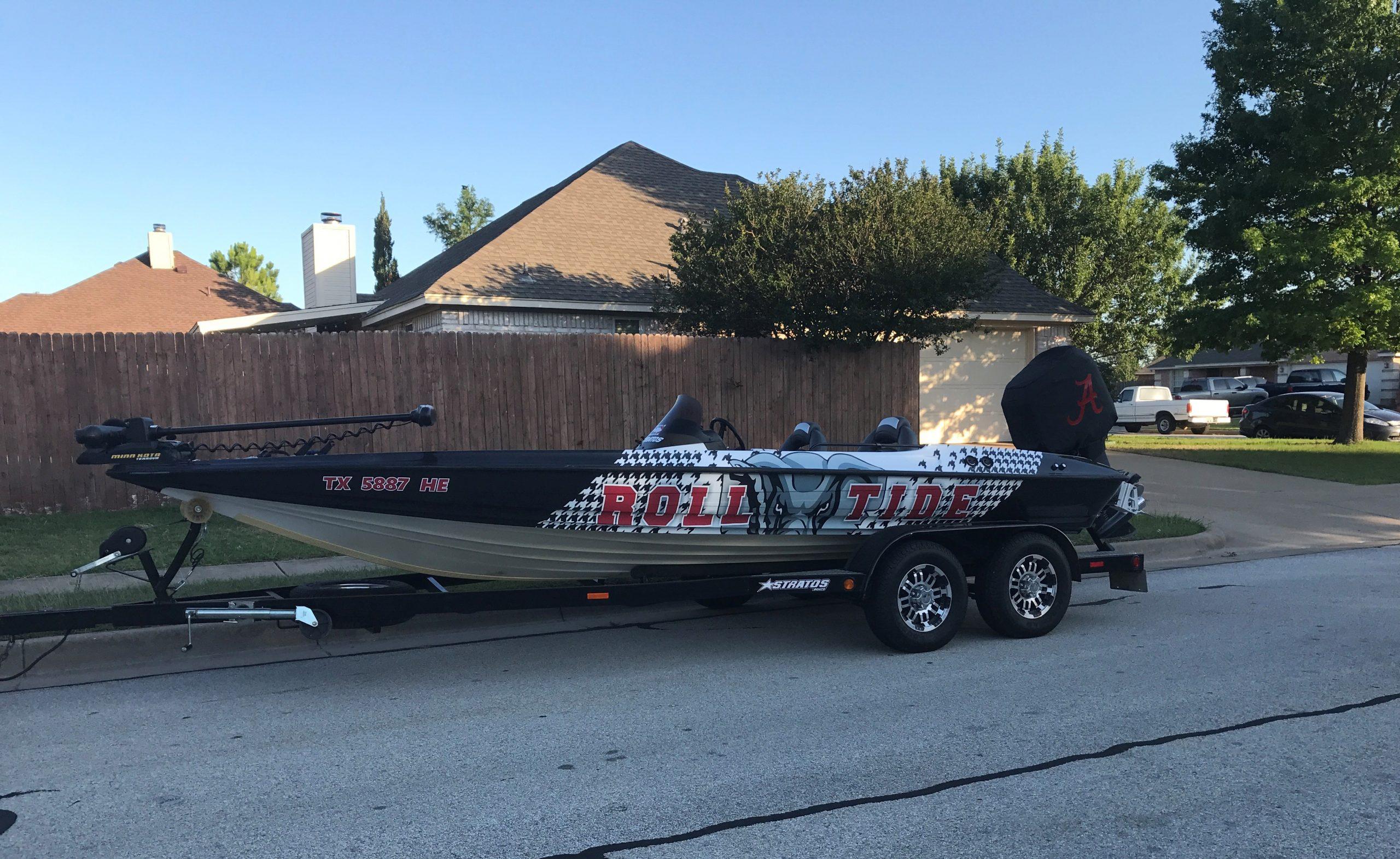 Alabama Bass Boat Wrap