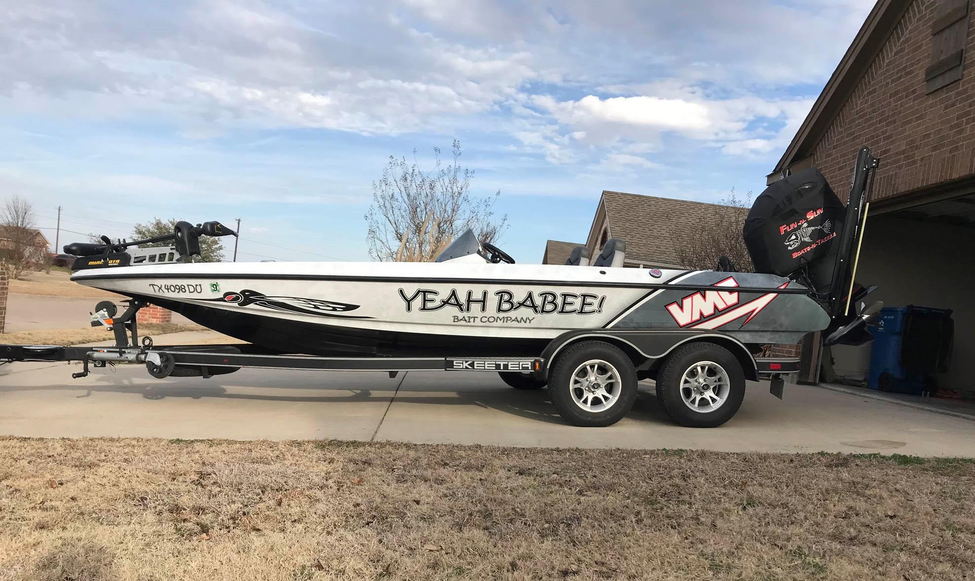 Yeah Babee Skeeter Bass Boat Wrap