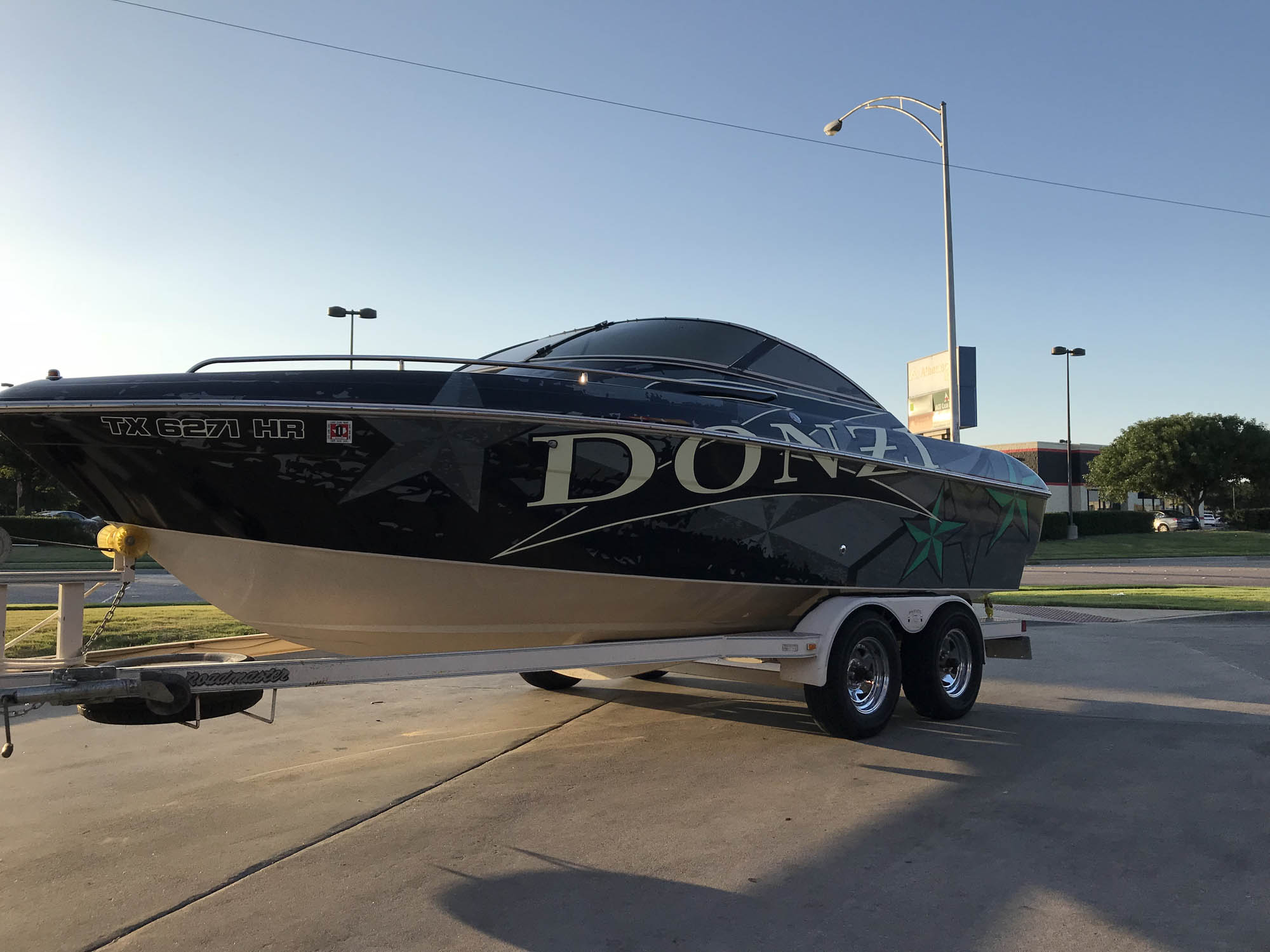 Donzi Ski Boat Wrap
