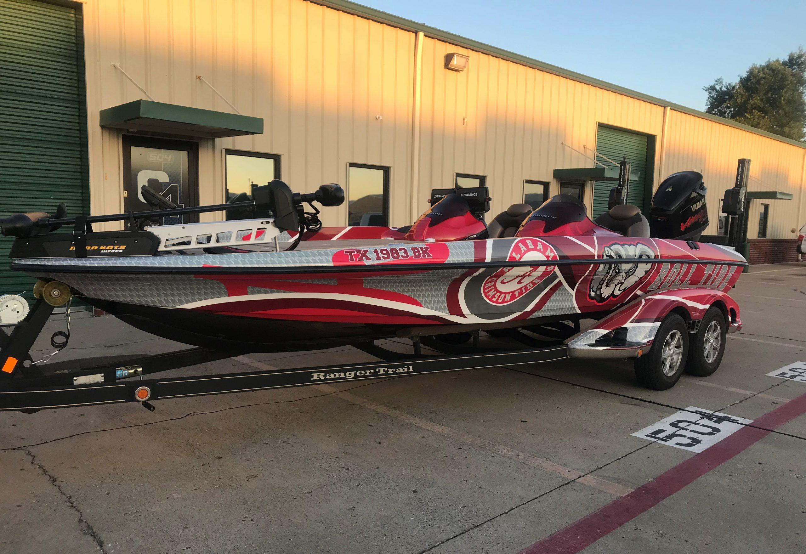 Alabama Roll Tide Ranger Bass Boat Wrap