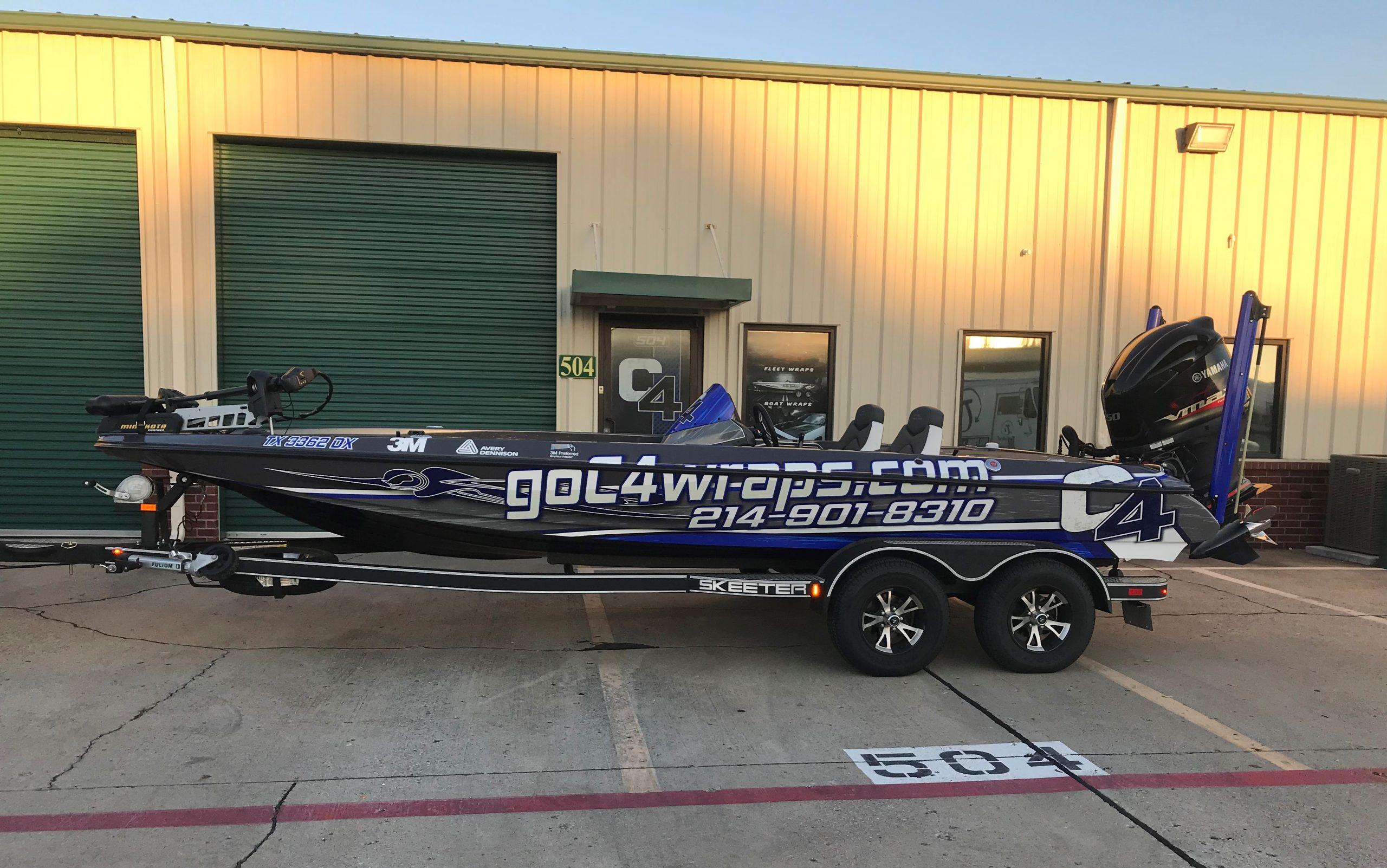 C4 Wraps Skeeter Bass Boat Wrap