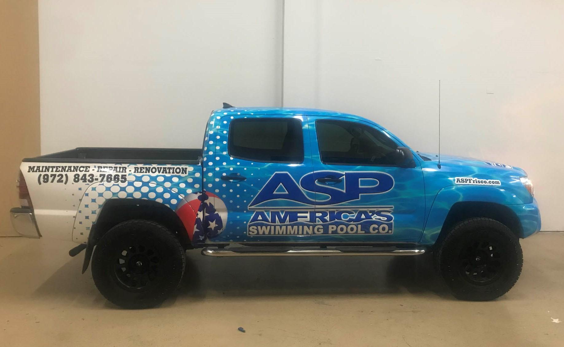 ASP Pool Services Toyota Tacoma Wrap