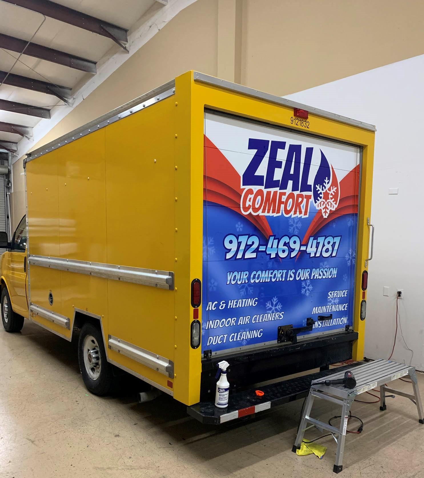 Zeal Comfort Box Truck Wrap