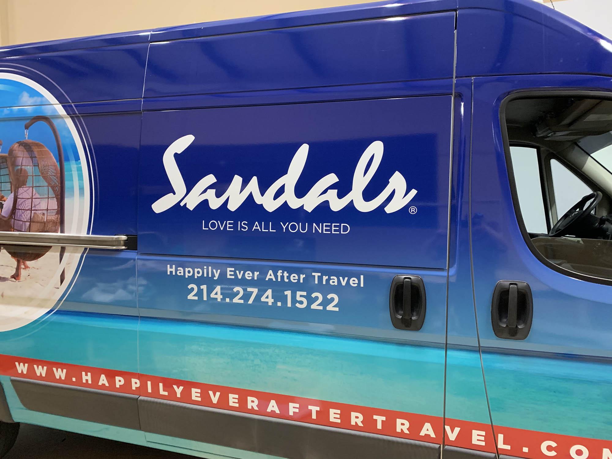 Sandals Resort Ram Utility Van Wrap