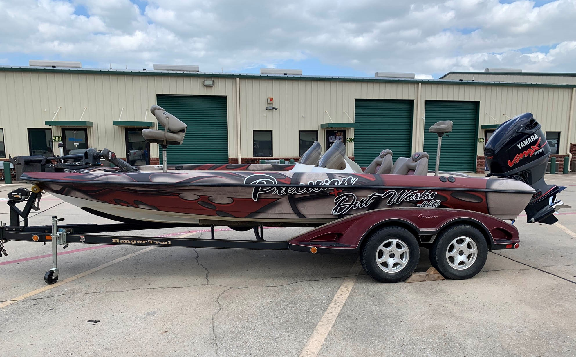 Precision Construction Ranger Bass Boat Wrap