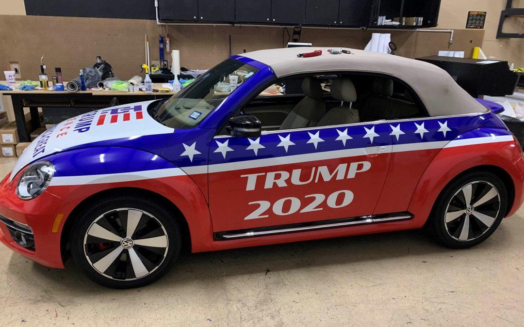 Trump 2020 Volkswagon Beetle Wrap