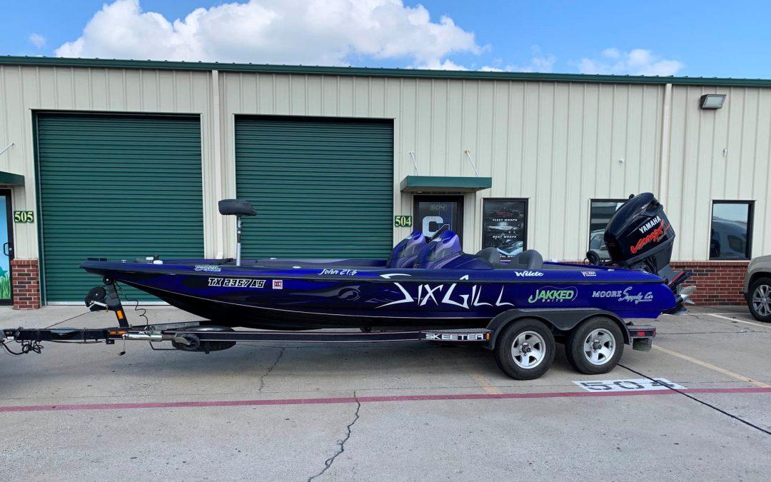 Six Gill Fishing Bass Boat Wrap
