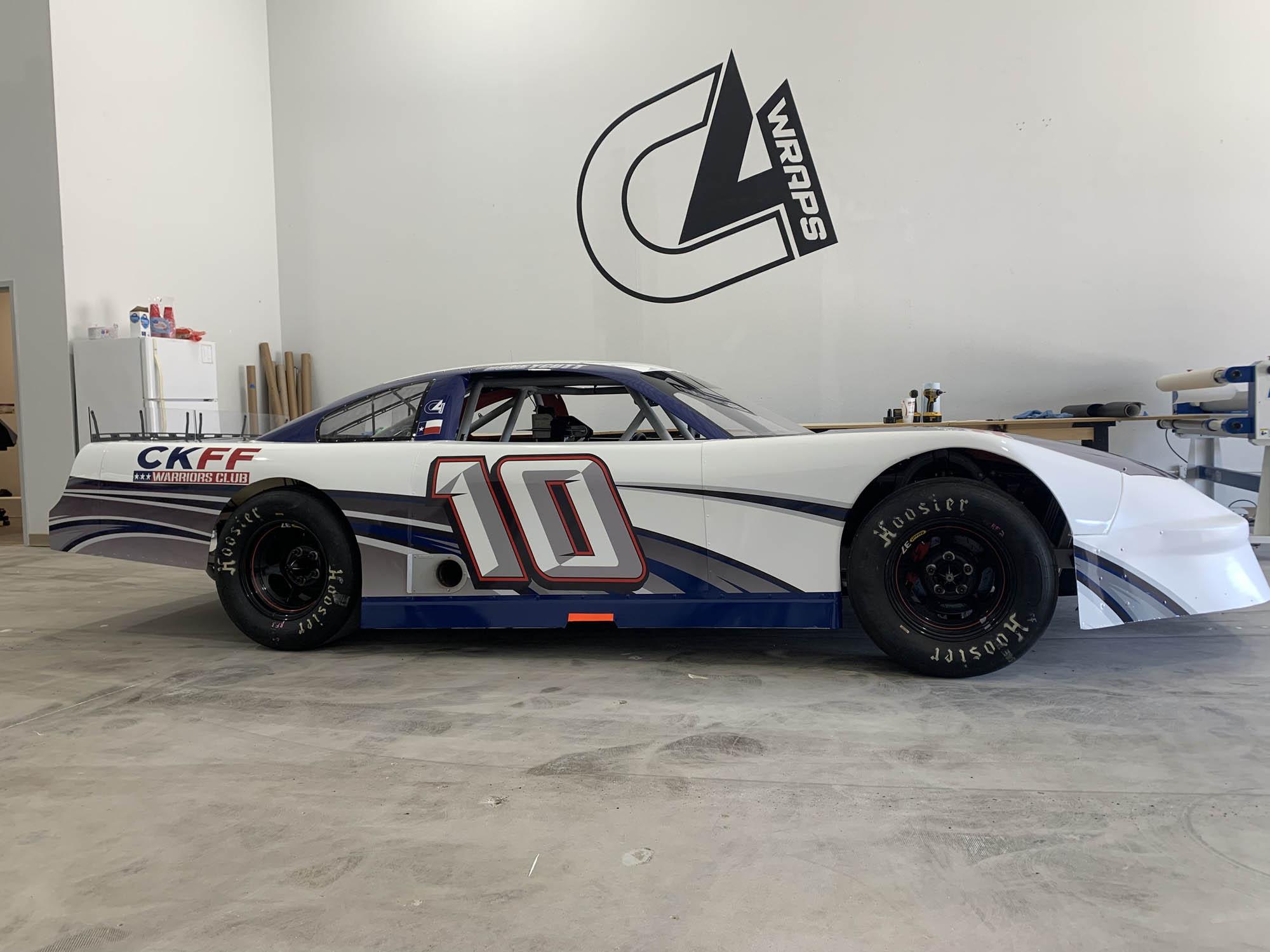 Super Latemodel Race Car Wrap