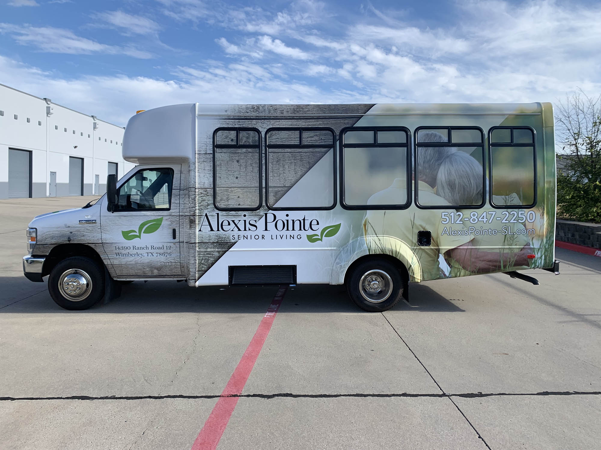 Alexis Pointe Passenger Bus Wrap