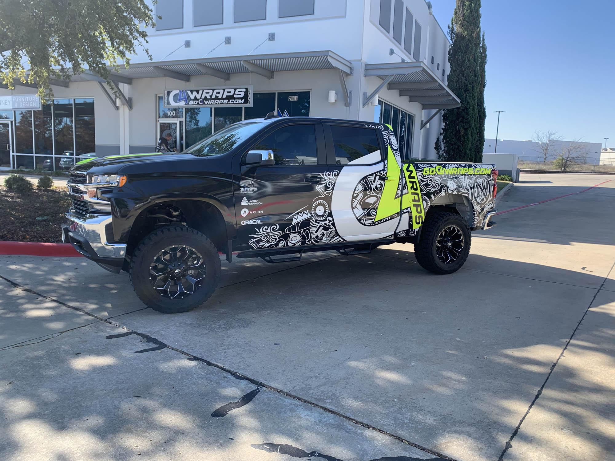 C4 Wraps Chevy Silverado Truck Wrap