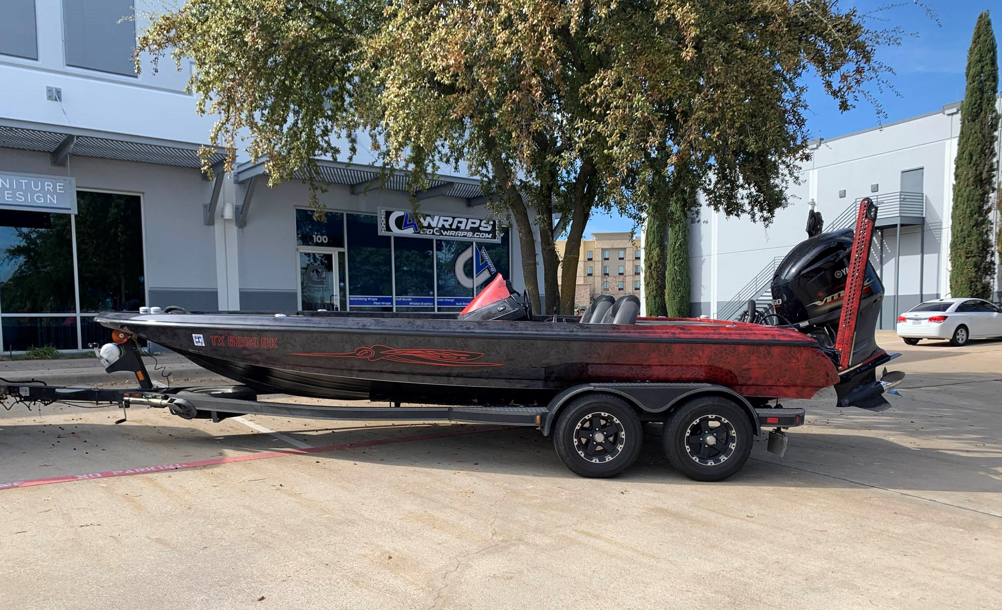 Kryptek Skeeter Bass Boat Wrap