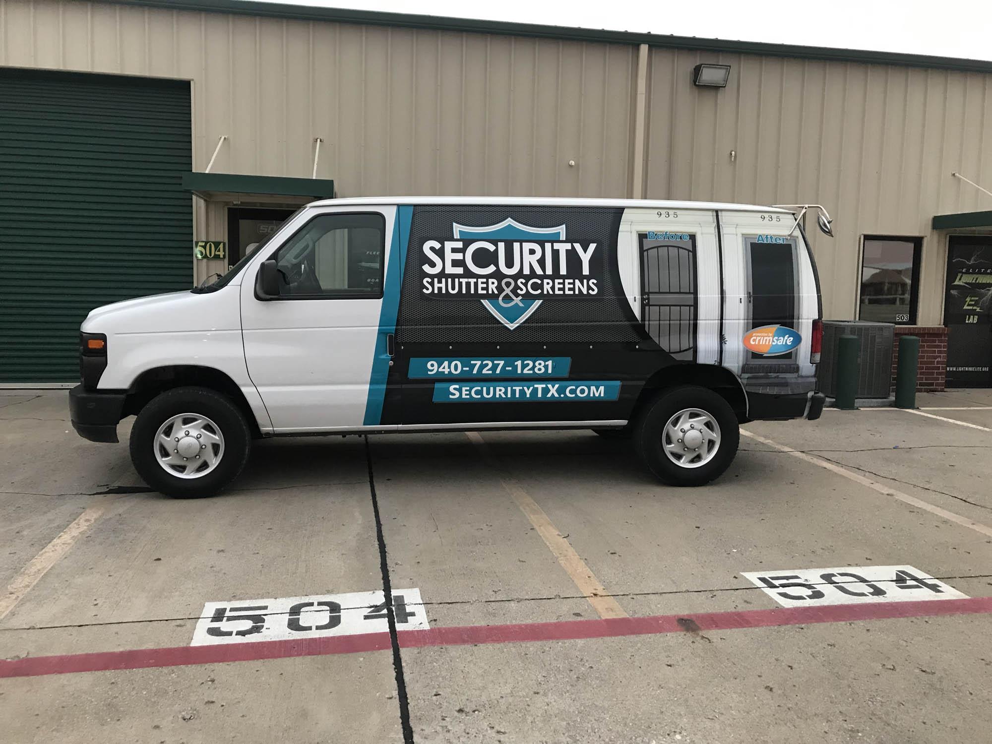Security Screen & Shutter Van Wrap