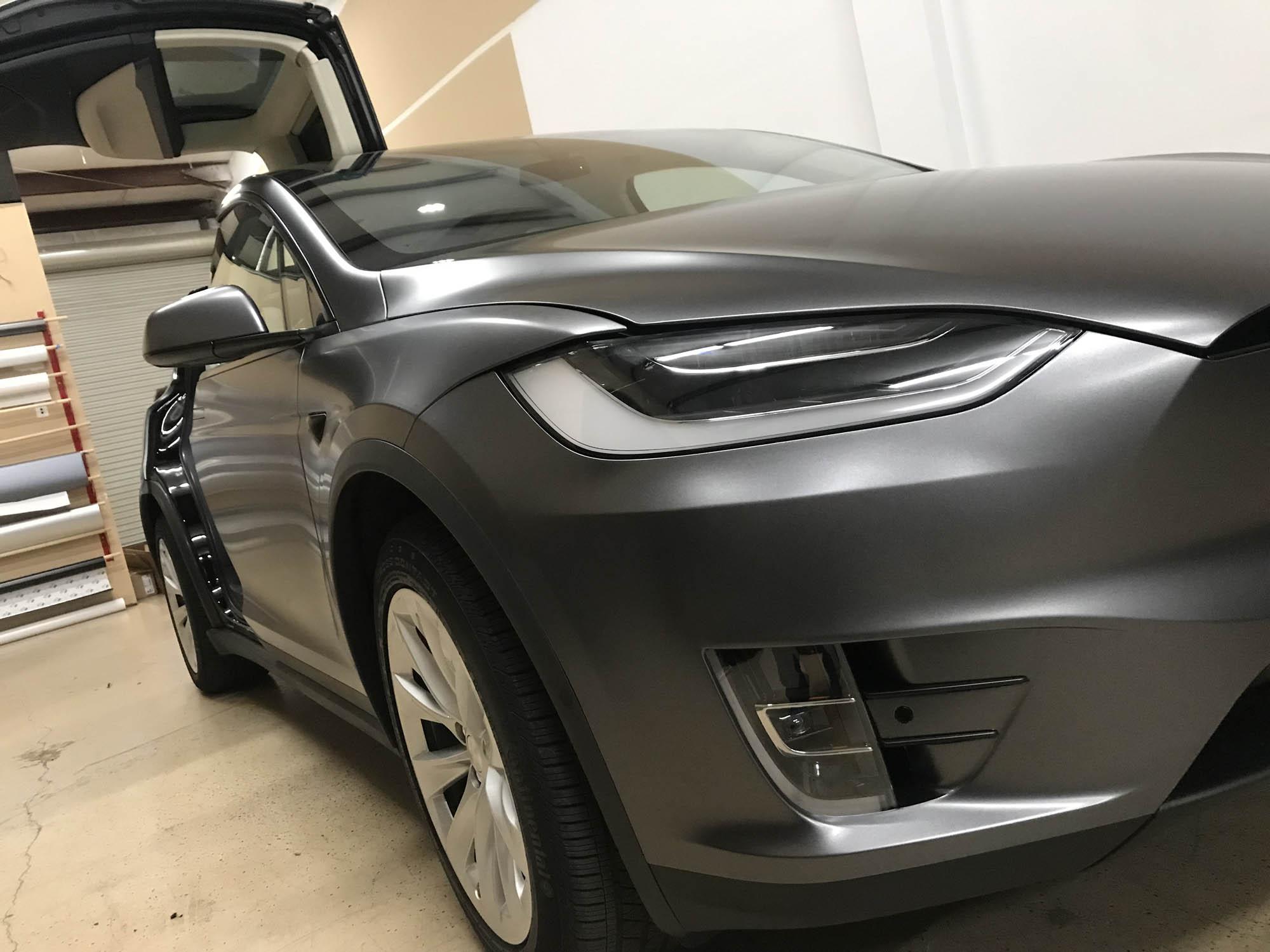 Tesla Model X Wrap 3M Satin Gray