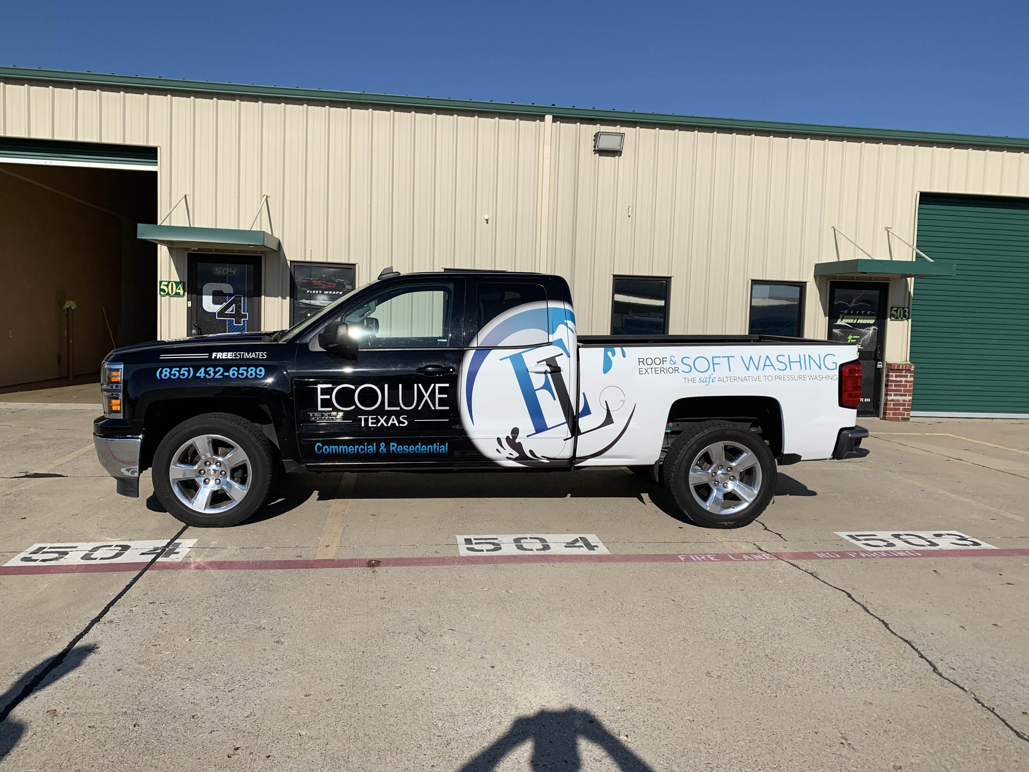 Ecoluxe Chevy Truck Half Wrap