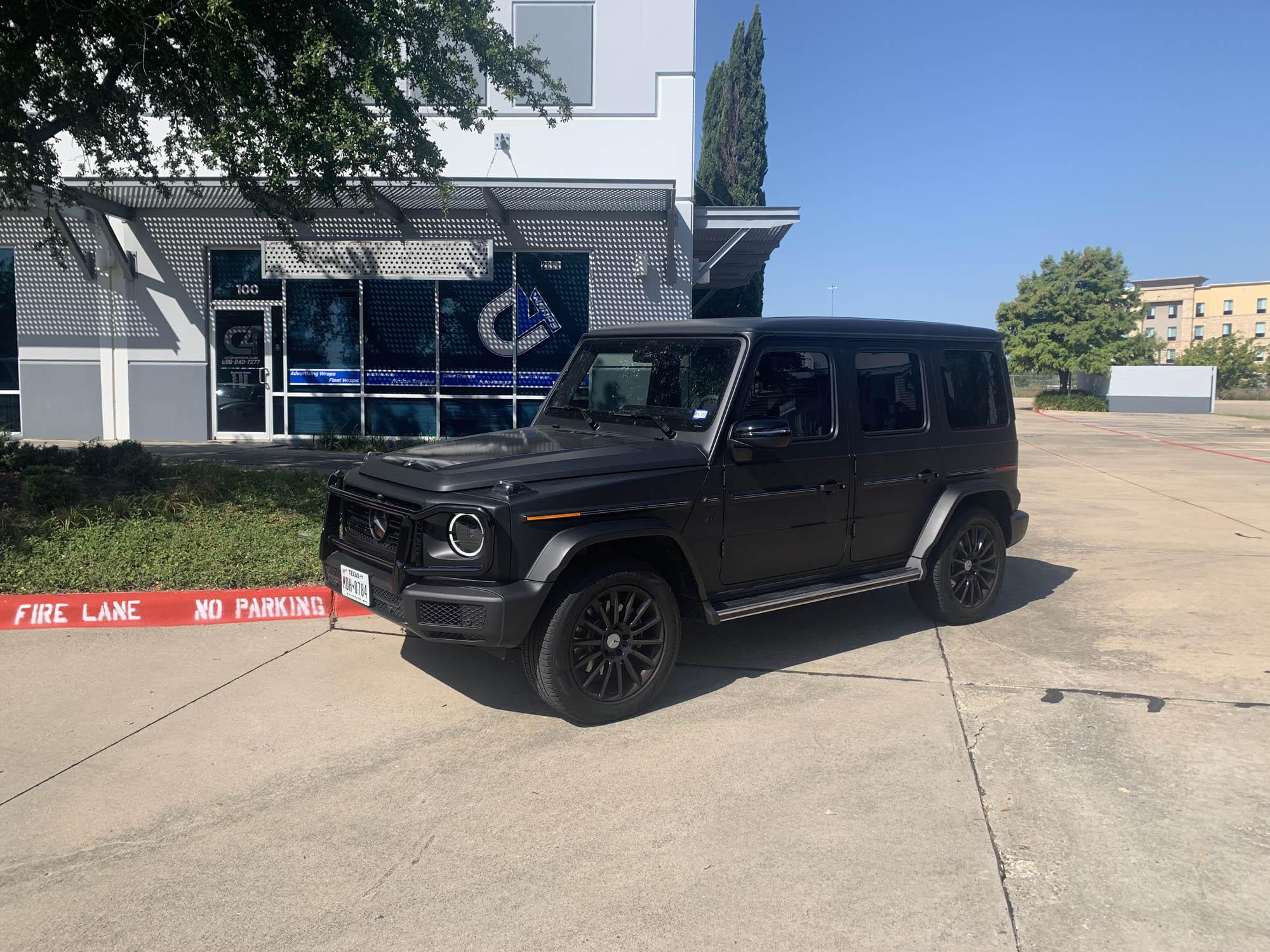 Mercedes G Wagon Wrap 3M Dead Matte Black