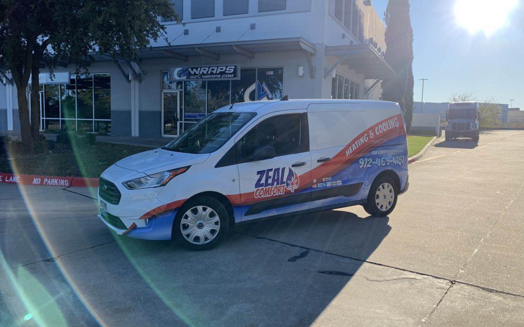 Zeal Comfort Ford Transit Half Wrap