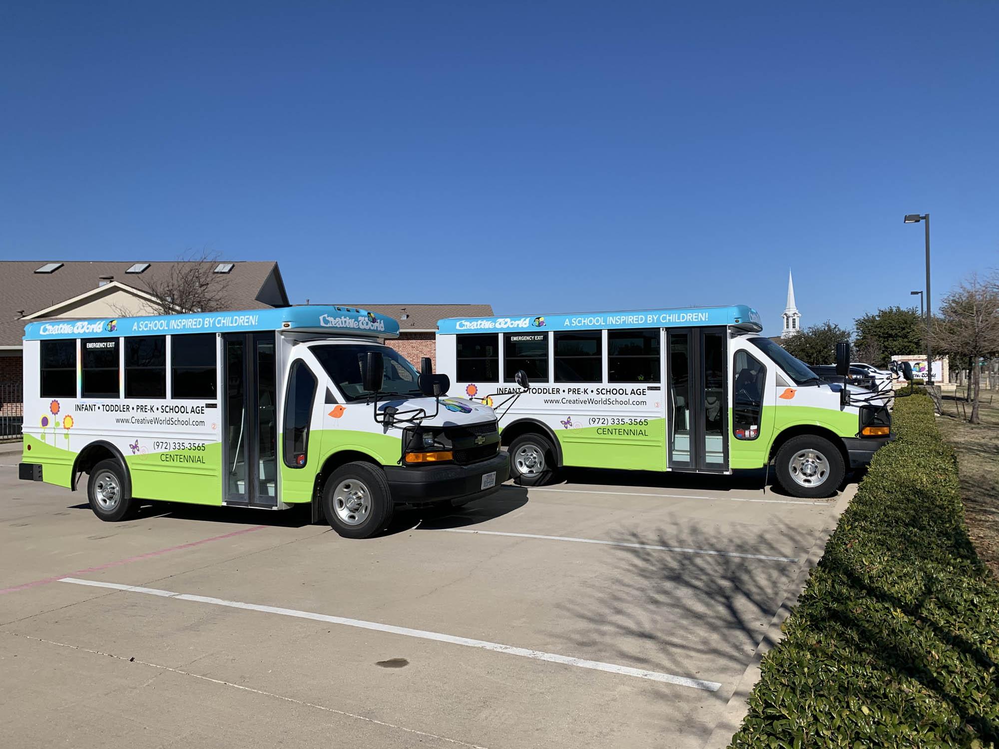 Creative World School Bus Wrap